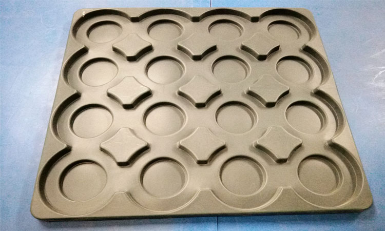Four wheeler DISC packing HDPE Tray